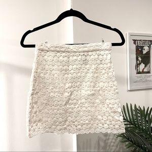 Daisy Lace Mini Skirt